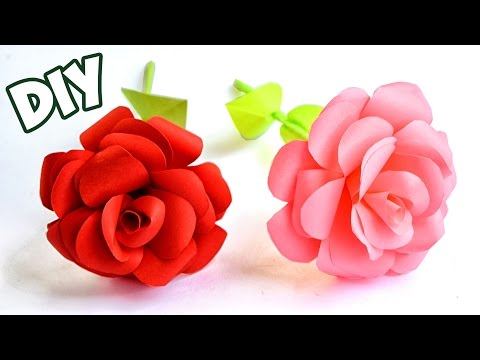 How To Make Easy Paper Rose