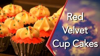 How To Make Eggless Red Velvet Cup Cakes With Cream Cheese Frosting