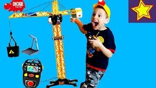 Dickie Toys Гигантский Кран Игрушка на Радиоуправлении Распаковка и обзор Construction toys for kids