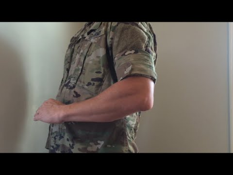 How to Roll Sleeves on Army Operational Camouflage Pattern (OCP)