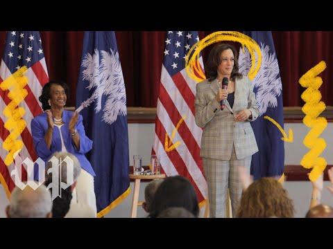 A theater critic reviews Sen. Kamala Harris's campaign performance