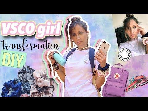 JE ME TRANSFORME EN VSCO GIRL - DIY FACILES