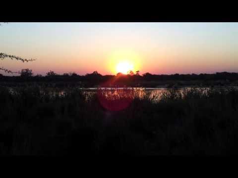 Zonsondergang Namibie