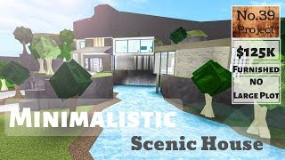 Roblox   BLOXBURG: casa cênica minimalistic (Speedbuild) (NO lote grande)