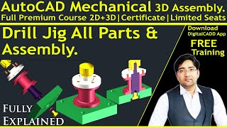 AutoCAD Tutorial for Mechanical Engineering | [ Complete ] AutoCAD Mechanical Modeling | 3D Parts