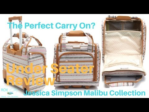 Jessica Simpson Malibu Collection Under Seater | Carry On Luggage Review and Dockers Compare