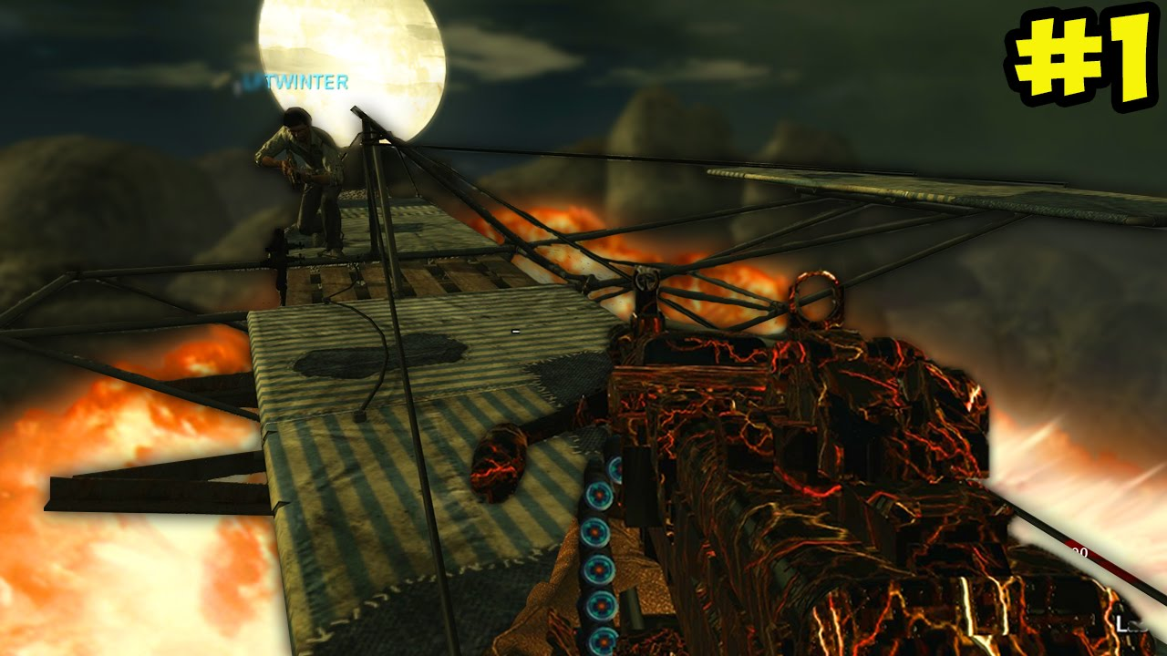 Flying Out Of Black Ops 2 Town Call Of Duty Zombies Town Remake Custom Map 1 Youtube