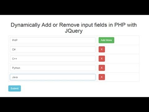Dynamically Add / Remove input fields in PHP with Jquery Ajax thumbnail