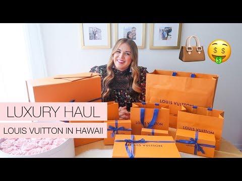 LOUIS VUITTON HAWAII HAUL   Cheaper designer goods?!