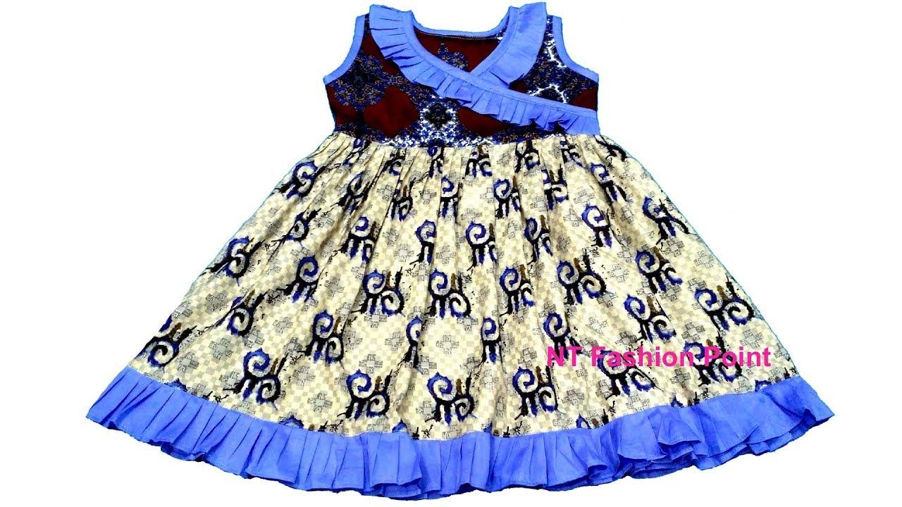 73671d535574e New model baby summer girls dress | Ruffle kids baby frock design | Cutting  & Stitching