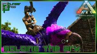 FINISHING THE WATERFALL BASE - ICHTHYORNIS TAMING Soloing the Ark S5E17