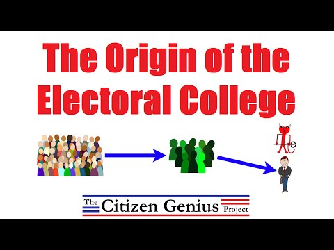 the origins and history of the electoral college Every four years, the american people focus their attention on the electoral college perhaps the most controversial aspect of our constitutional system for se.