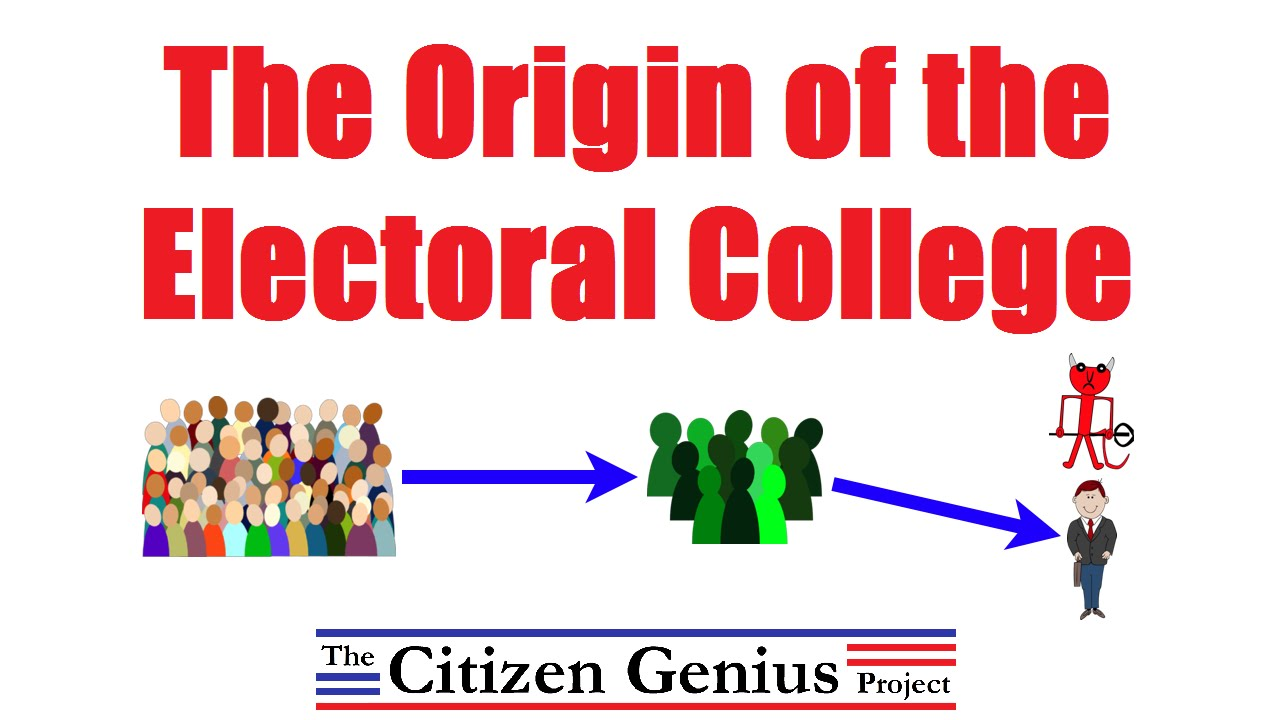 the origin and history of electoral college Citizen genius breaks the compromise that led to the electoral college into easily understood concepts, explaining how the final system was reached.