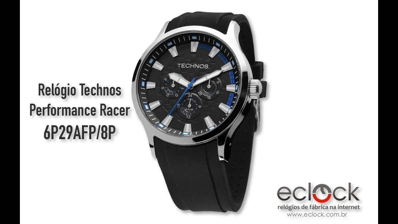 2350fc5ae14 Relógio Technos Masculino Performance Racer 6P29AFP 8P - Eclock ...