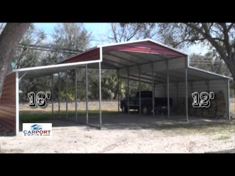 Steel Barns - 42'X26' Steel Barn, Garage, Lean To Building By Carport Empire