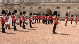 1st Battalion Grenadier Guards Corps of Drums - Buckingham Palace 7 June 2015