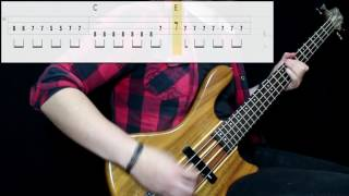 Panic! At The Disco - The Ballad Of Mona Lisa (Bass Cover) (Play Along Tabs In Video)