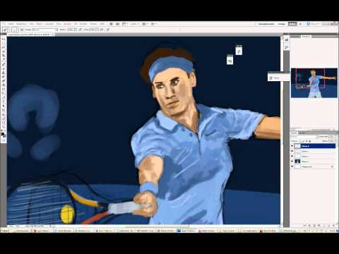 Roger Federer Speedpainting