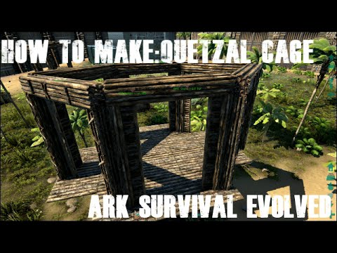 Ark survival evolved how to make quetzal cage youtube ark survival evolved how to make quetzal cage malvernweather Choice Image