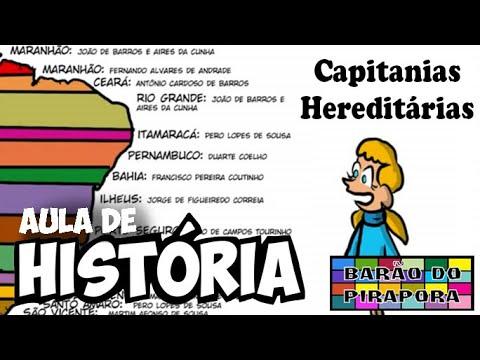 Aprendendo com videoaulas: História: Capitânias Hereditárias
