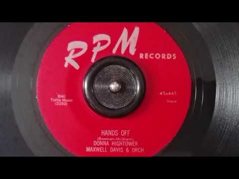 Donna Hightower ‎- Hands Off - RPM RECORDS - 1955 R&B