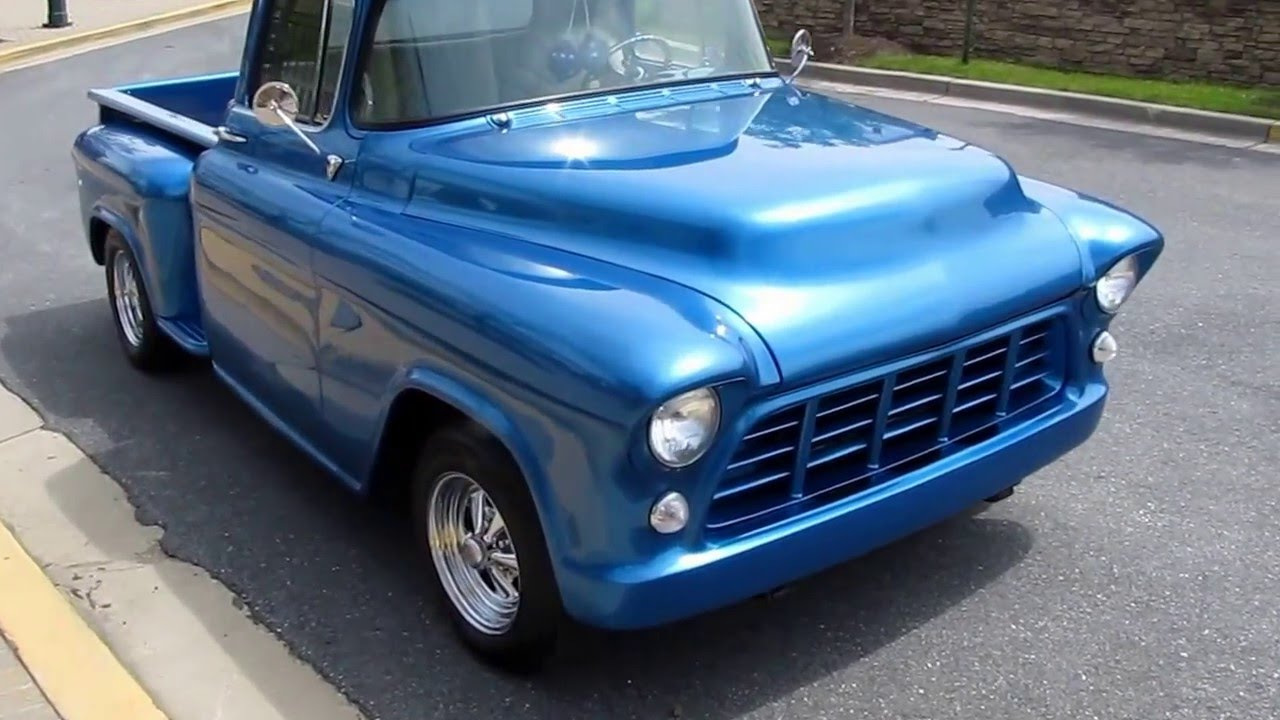 1955 CHEVY PICKUP FOR SALE @ ERIC'S MUSCLE CARS - YouTube