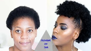 How to | Faux Frohawk Tutorial on Short Natural hair | TWA Hairstyles | Hair Blogger Miriam Maulana