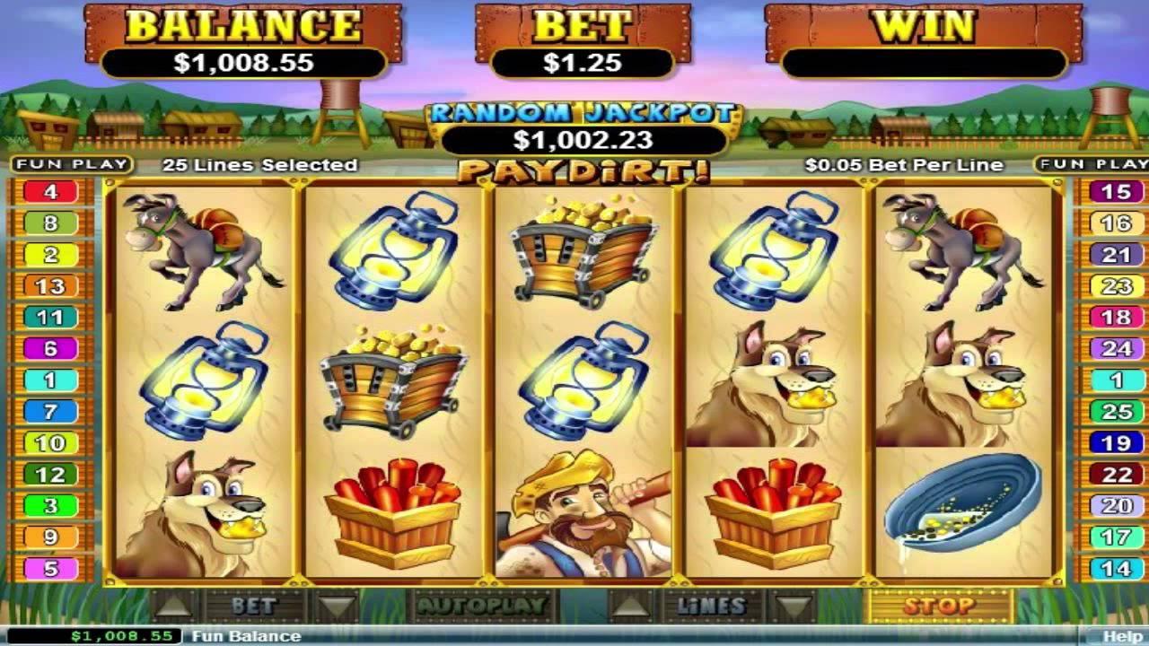 free slot machine paydirt