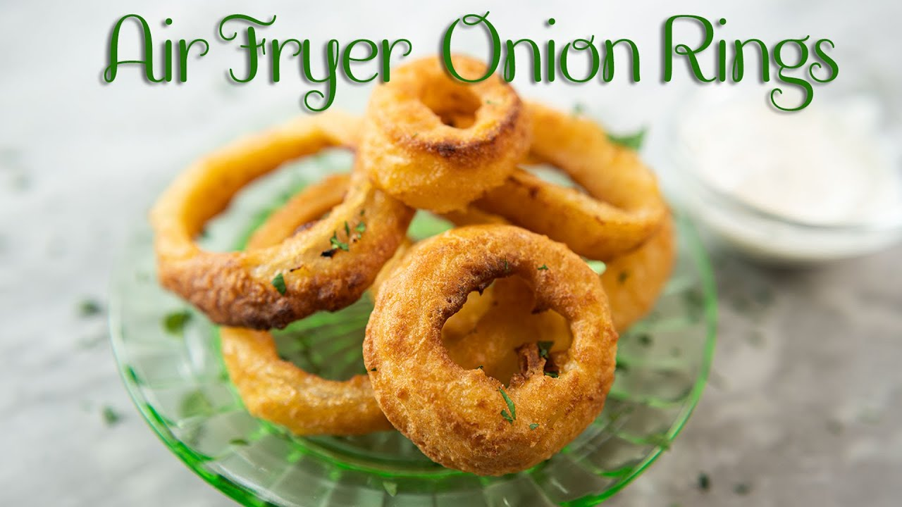 Make Delicious Frozen Onion Rings In The Air Fryer Youtube