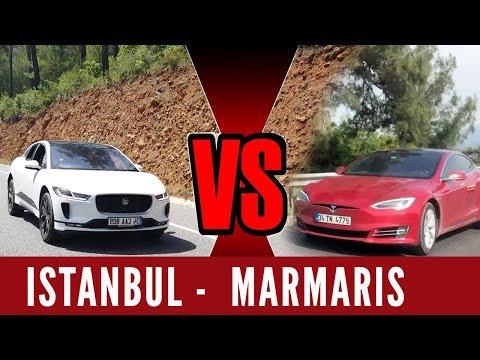 Elektrikli Uzun Yol | Tesla Model S 90D vs. Jaguar I-PACE