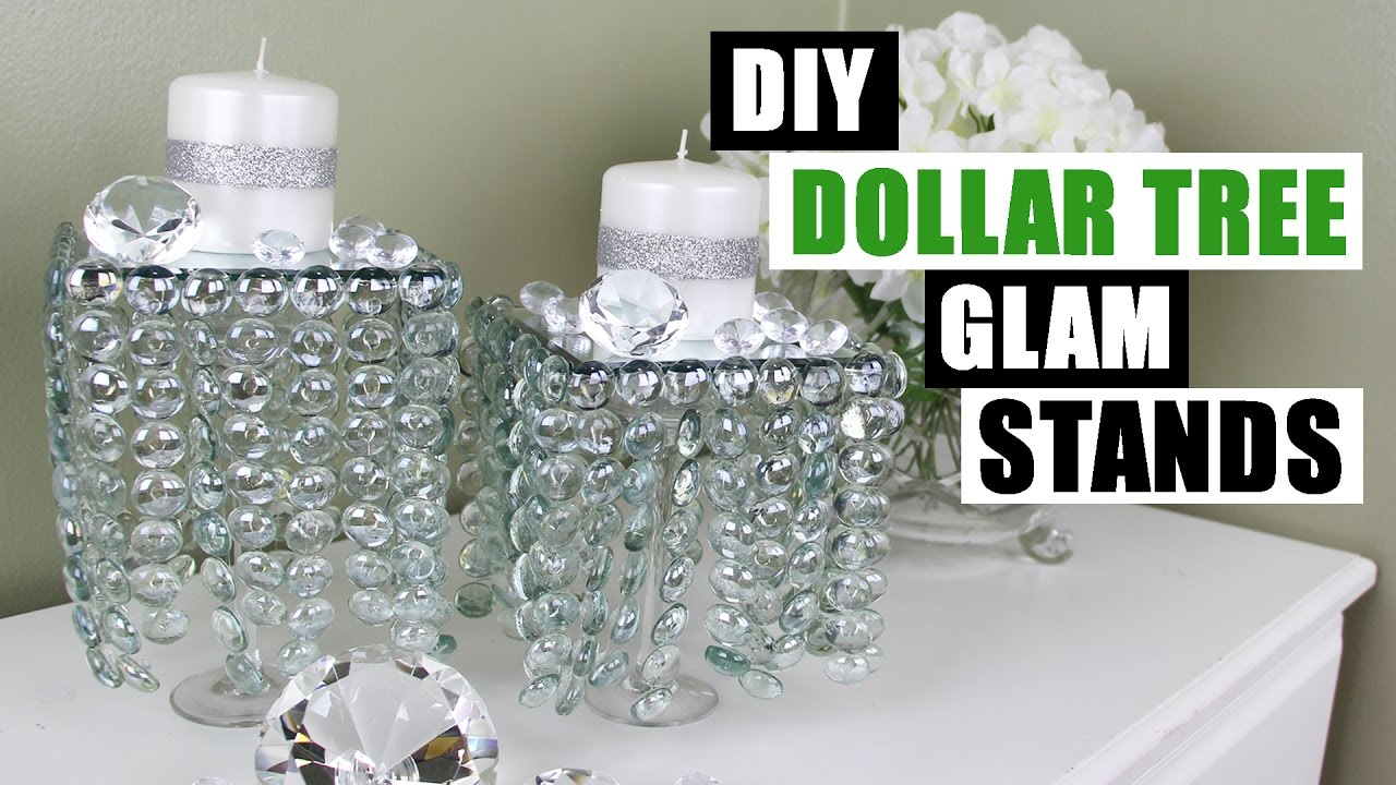 Diy Dollar Tree Glam Decor Stands Dollar Store Diy Candle