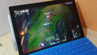 Surface Pro 4 M3 League Of Legends Gameplay