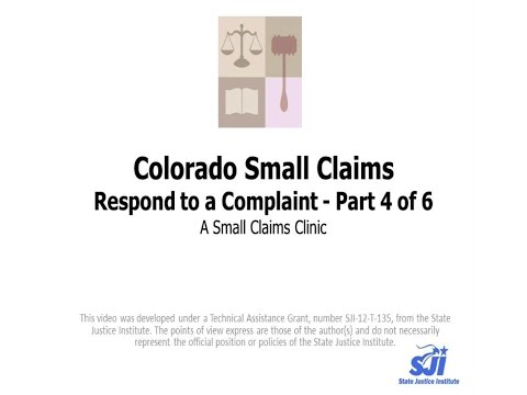 Colorado Small Claims Part 4 Of 6