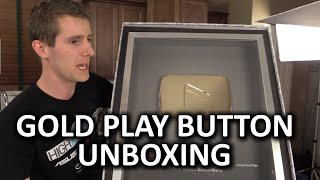 GOLD Play Button Unboxing (1 Million Subs) & Linus Tech Tips Early 2015 Update