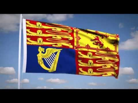 "National Anthem of the UK (""God save the Queen"") Royal flag of the UK"
