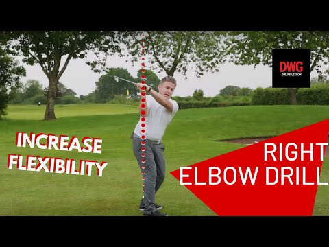RIGHT ELBOW DRILL FOR TOP OF THE BACK SWING POSITION