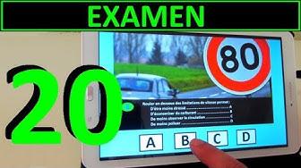 Code de la route 2020 #20 - Examen