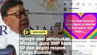 Nyinyir soal penusukan Wiranto, guru SMP kena SP dan ini respon Tjahjo Kumolo