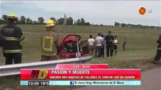 MUEREN DOS HINCHAS DE TALLERES EN LA RUTA  - MOVIL EN VIVO - NOTICIERO DOCE