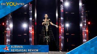 Albania: Jonida Maliqi - Ktheju Tokës | First Rehearsal Reaction - Eurovision 2019