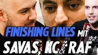 Wie gut kennen Savas, KC Rebell & RAF Camora ihre Lines? #finishinglines (16BARS.TV)