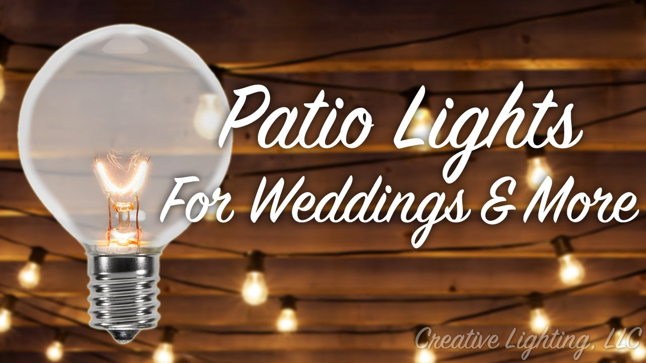 Patio Lights For Weddings U0026 More.   YouTube