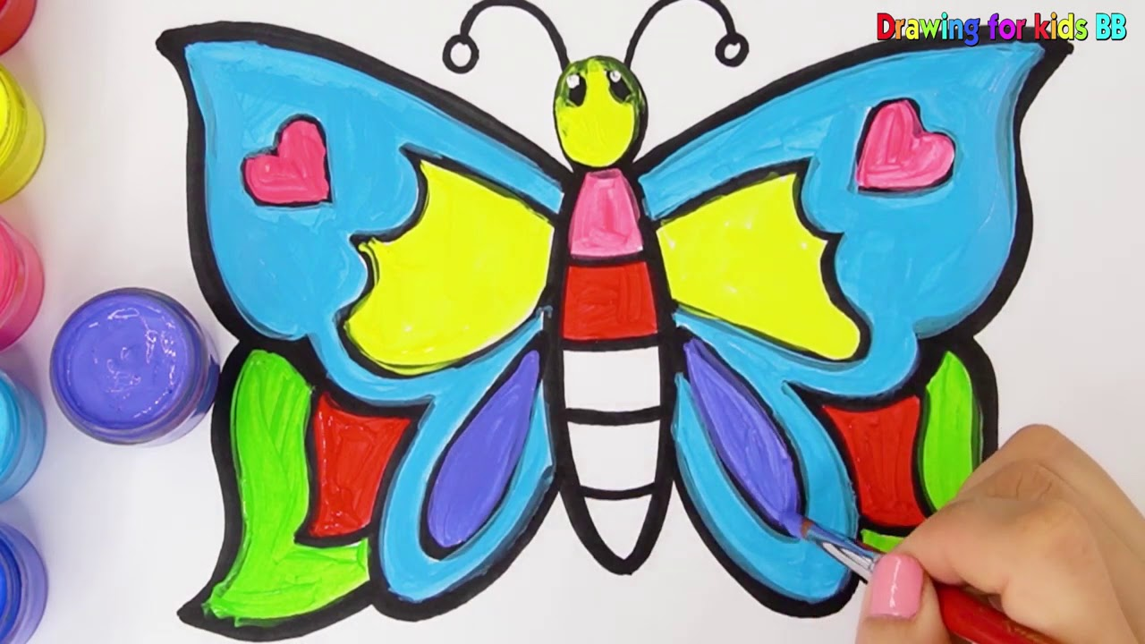 Buyuk Kelebek Boyama Ve Cizimi Big Butterfly Boyama Ve Cizimi
