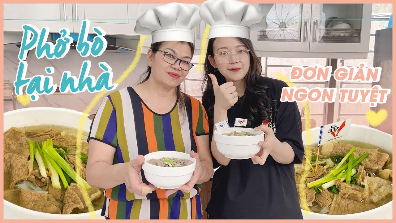 Vào bếp cùng mẹ - Cách nấu phở bò tại nhà đơn giản ngon tuyệt   Hạnh Chee