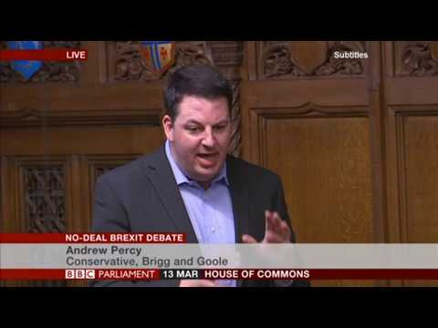 Andrew Percy MP at the No-deal Brexit Debate