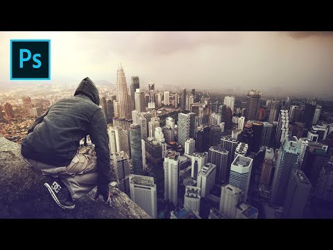 Above the City - Photoshop Manipulation Tutorial Processing thumbnail
