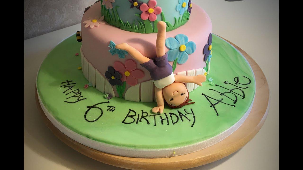 Gymnastics Cake For Abbie By Zoe Youtube