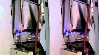 Film 3D, 1/2: Praca zabrudzonego kotła gazowego Vaillant.