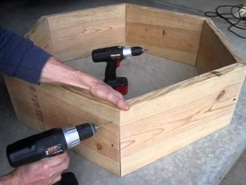 How To Build A Raised Bed Hexagon Square Foot Vegetable