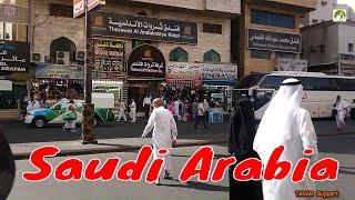 Traveling Saudi Arabia Street Walk In Makkah City Middle East 2019